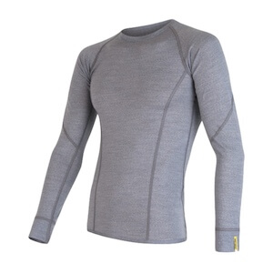 MERINO ACTIVE TEE LS MEN GRY