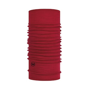 LIGHTWEIGHT MERINO WOOL SOLID RED