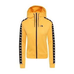 W TNL CROP FZ HD TNF YELLOW