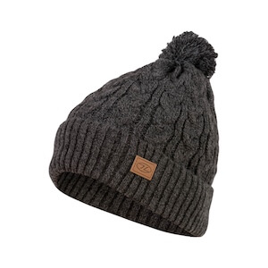BEIRA LINED BOBBLE HAT - CHRCL MARL