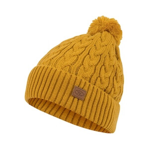 BEIRA LINED BOBBLE HAT - ARROW WOOD