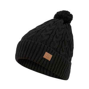 BEIRA LINED BOBBLE HAT - BLACK