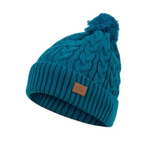 BEIRA LINED BOBBLE HAT - OCEAN BLUE