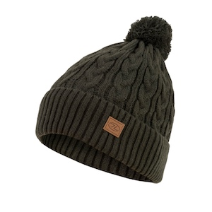 BEIRA LINED BOBBLE HAT - OLIVE