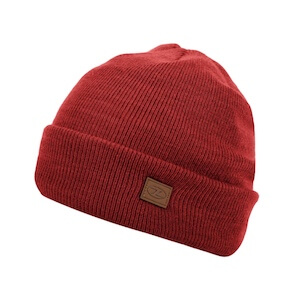 THINSULATE SKI HAT - DARK RED