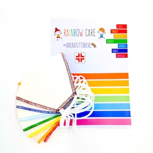 MASCHERINA RAINBOW CARE PACCO DA 7